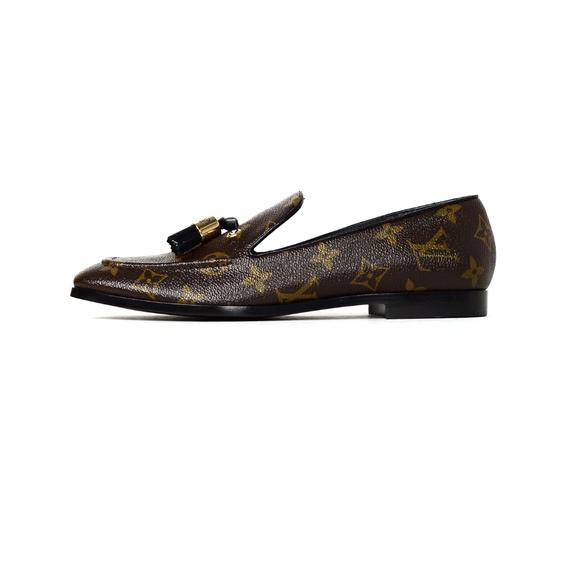Monogram Society Loafers Sz 38